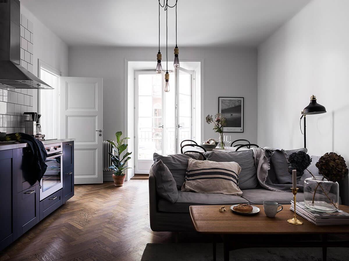 Дизайн маленькой кухни-гостиной