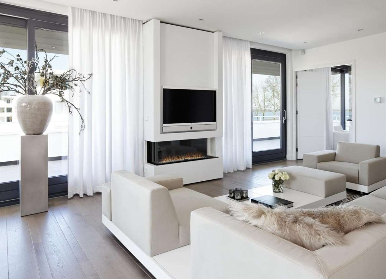 телевизор в интерьере гостинной