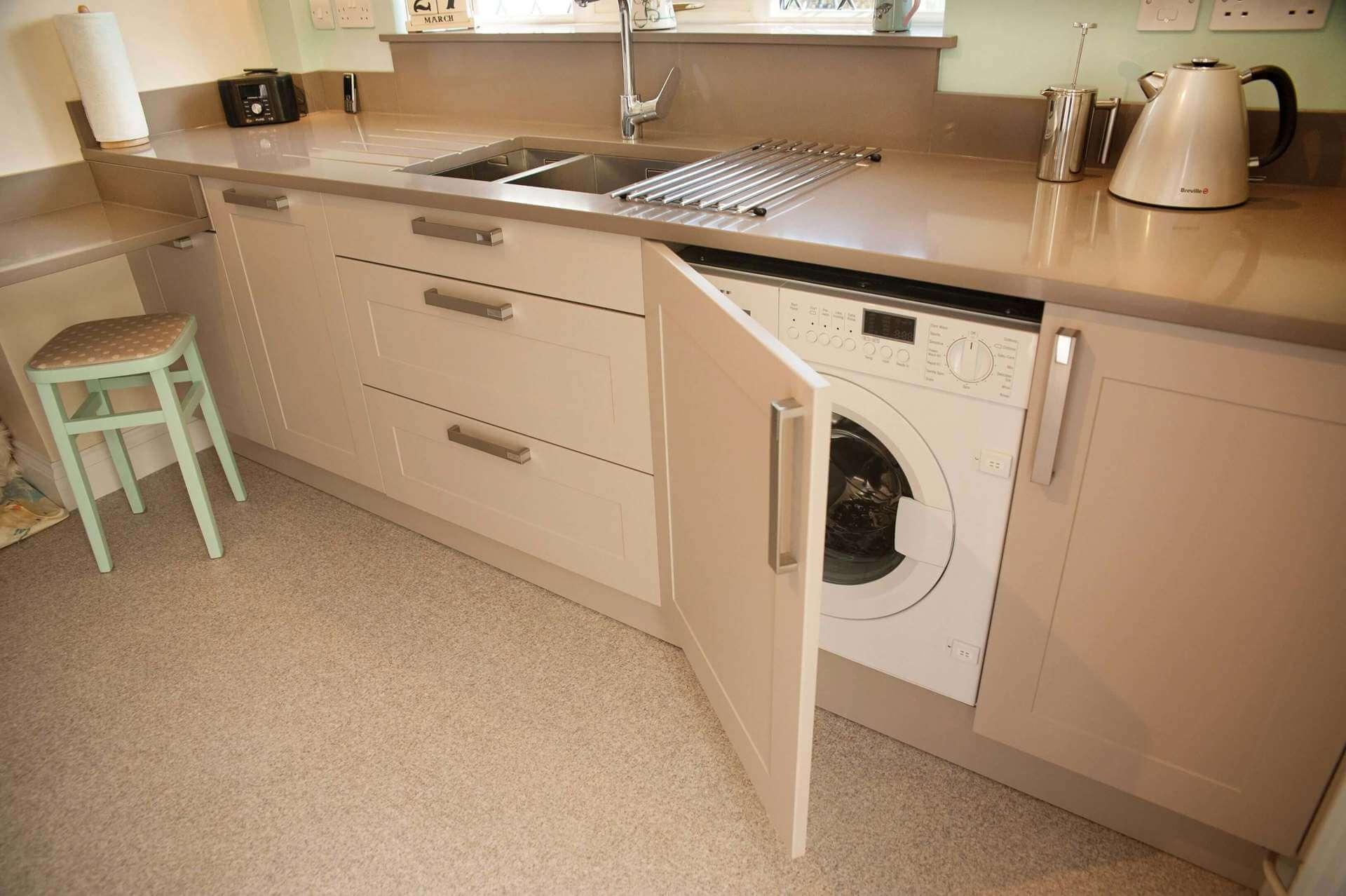куда поставить стиральную машину на кухне