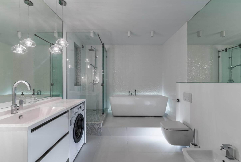 оформление стиральной машины в ванной