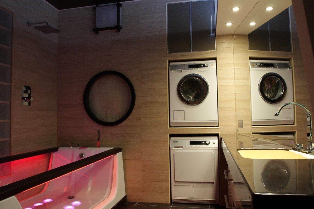 стиральная машина встроенная в ванной