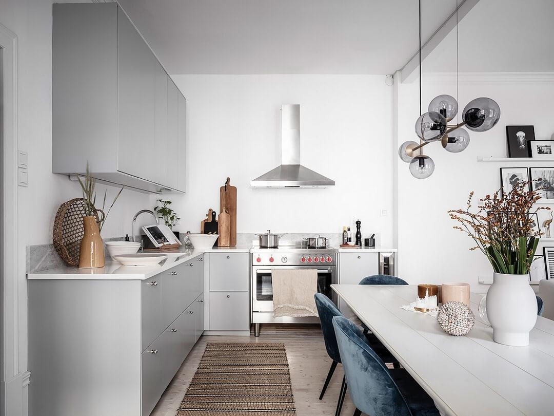 простой дизайн маленькой кухни