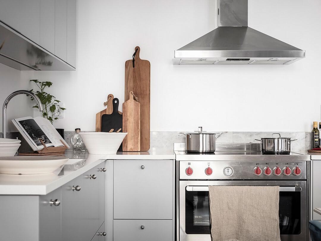 интерьер большой кухни