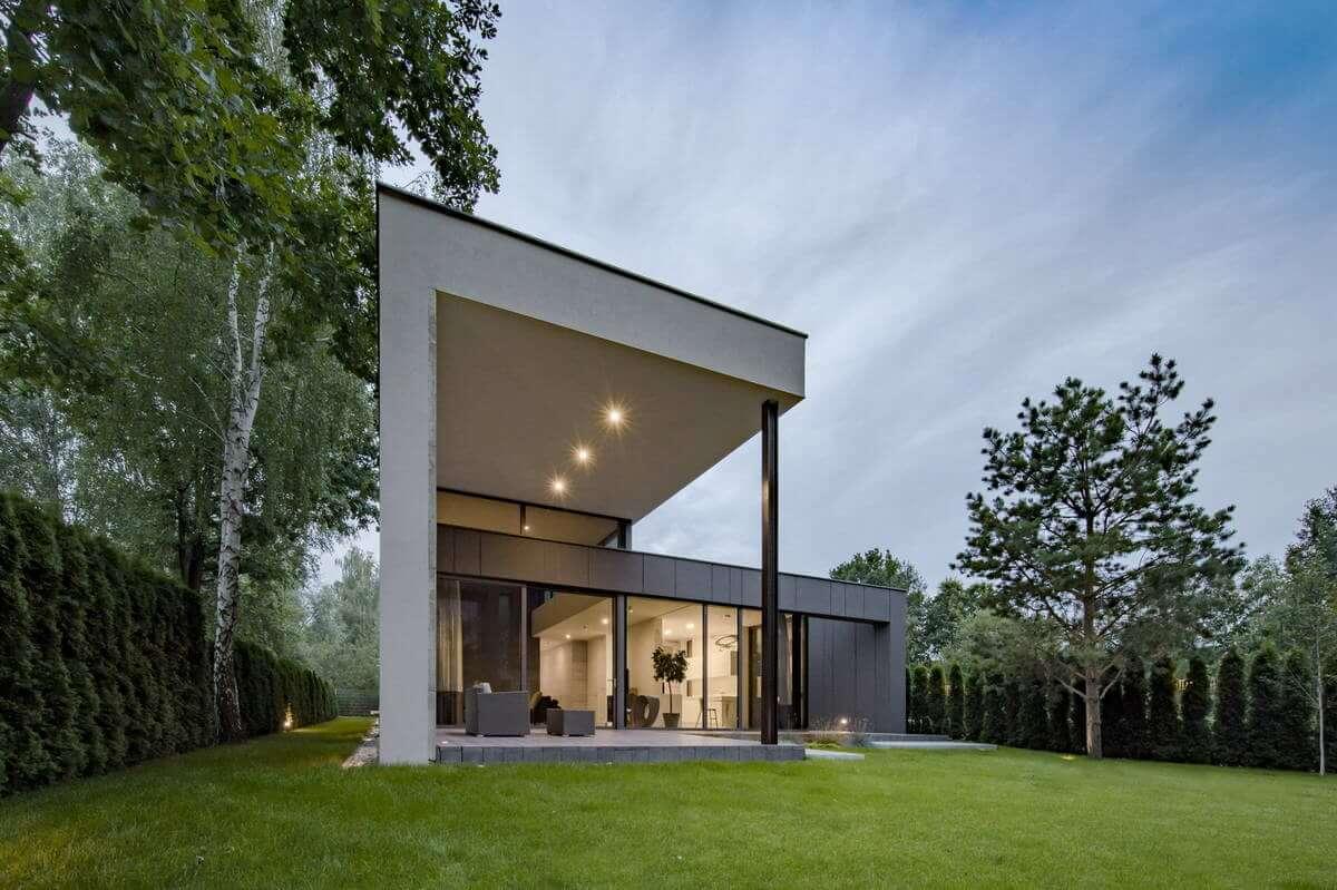 наружный дизайн загородного дома