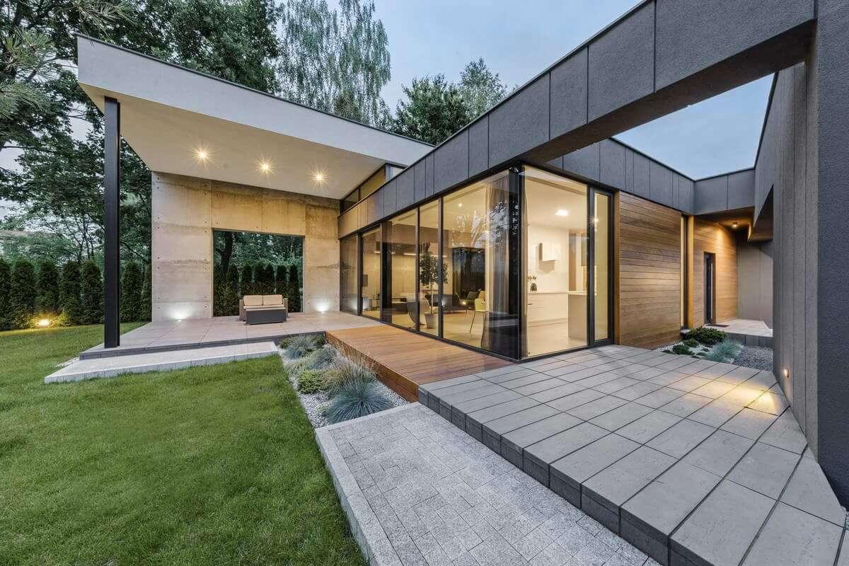 дизайн одноэтажного загородного дома