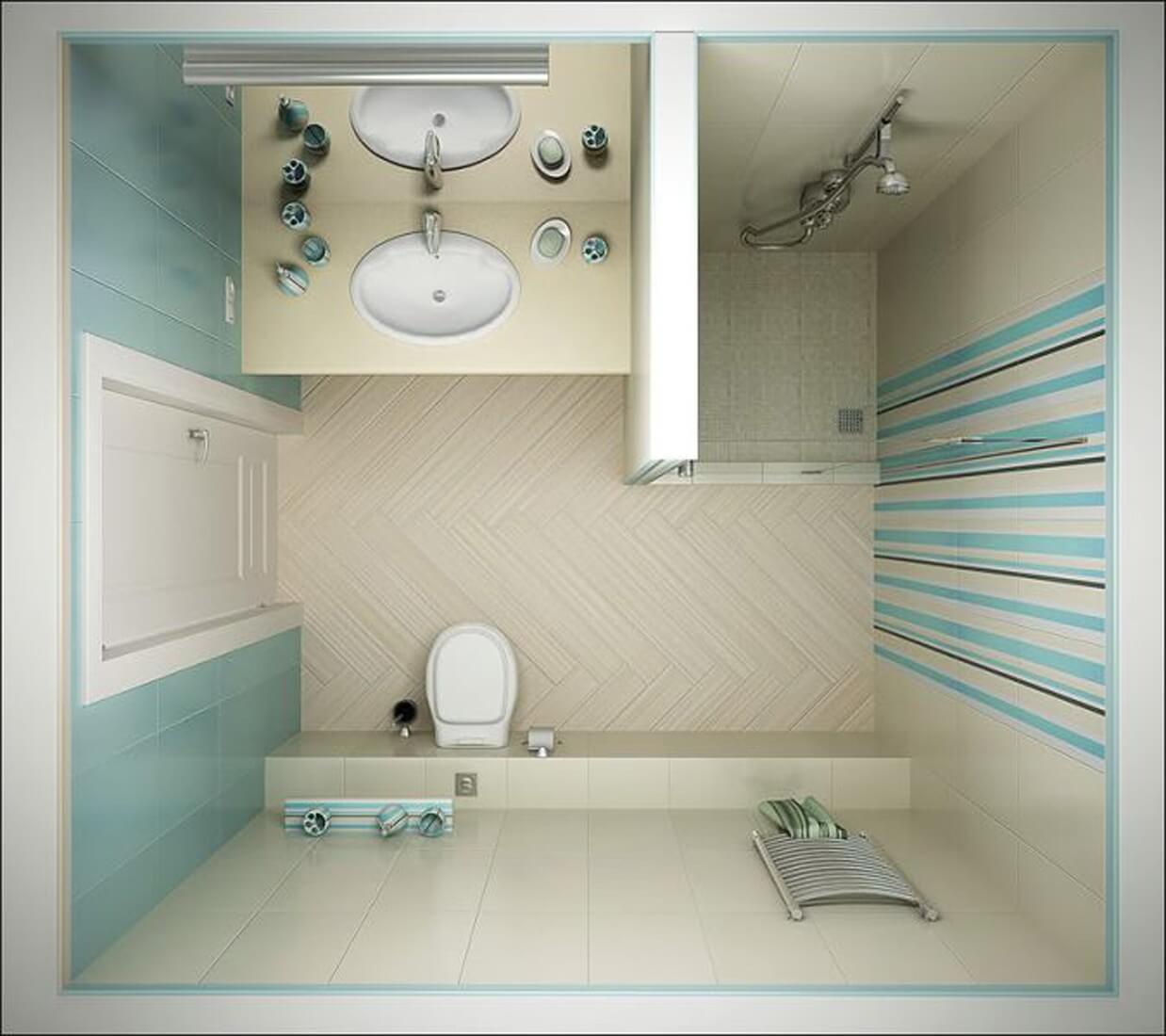 ванная комната в хрущевке с душевой кабиной