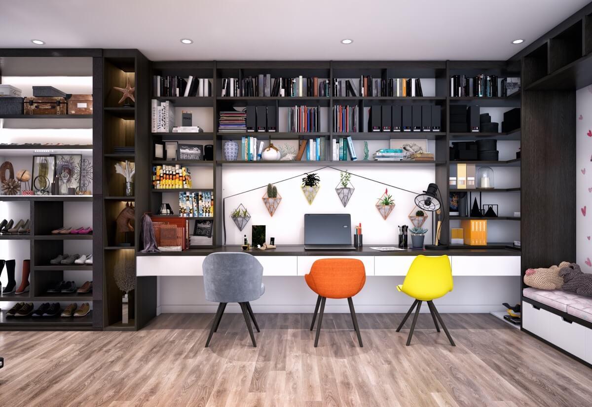 интерьер кабинета в частном доме