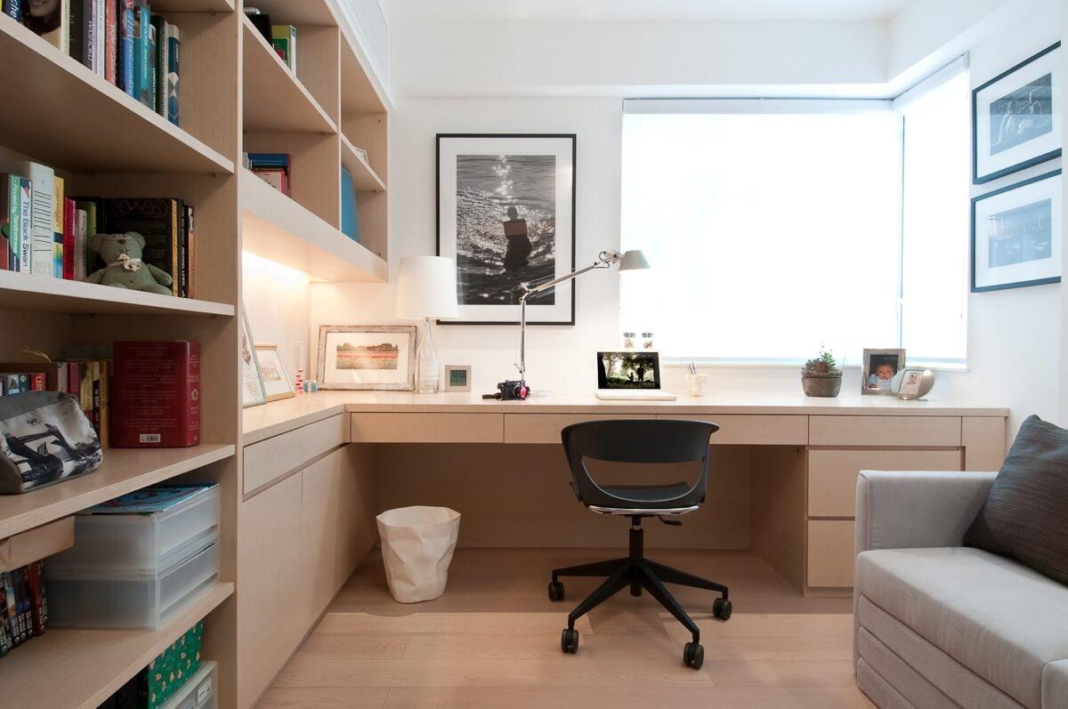 дизайн кабинета в минимализме