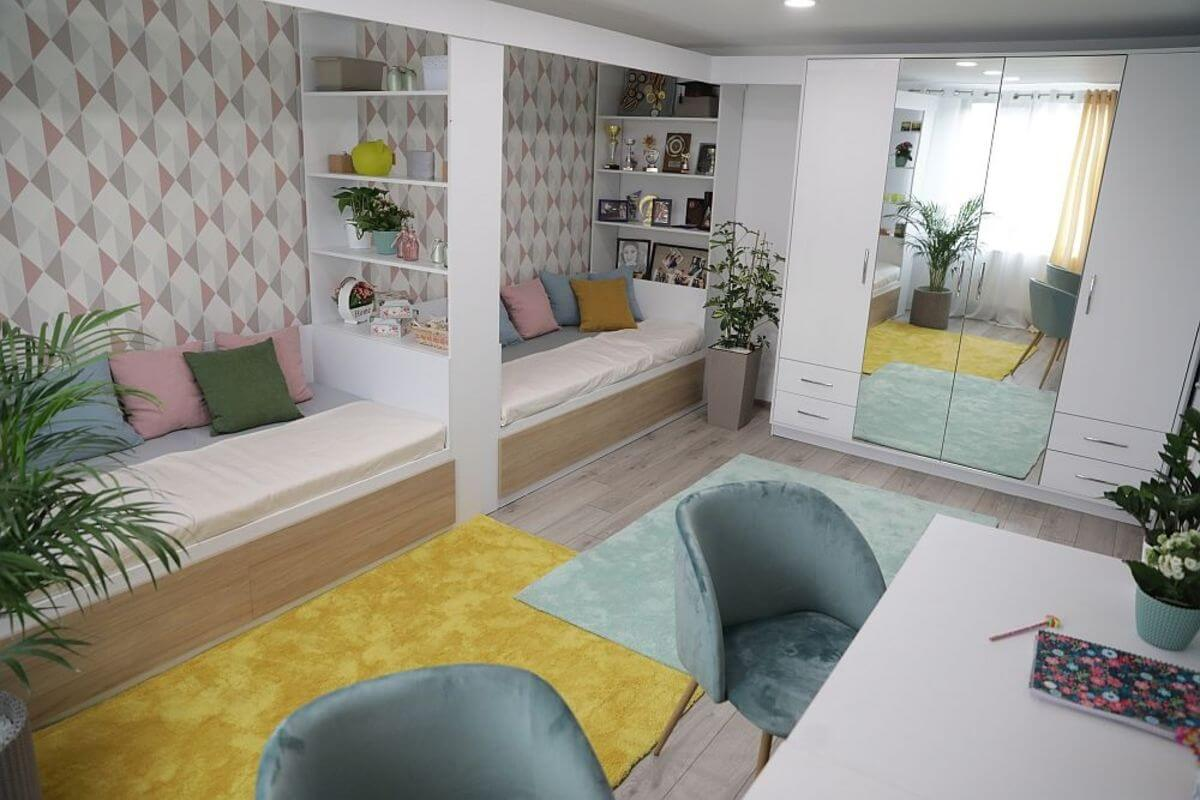 Дизайн детской комнаты для двух детей 12 кв.м
