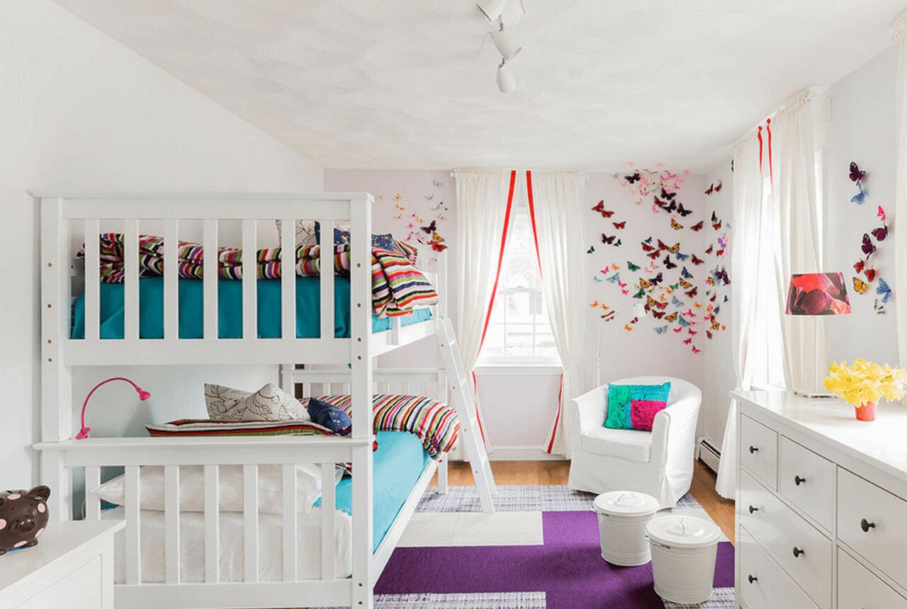 дизайн детской 12 кв.м. для двоих детей
