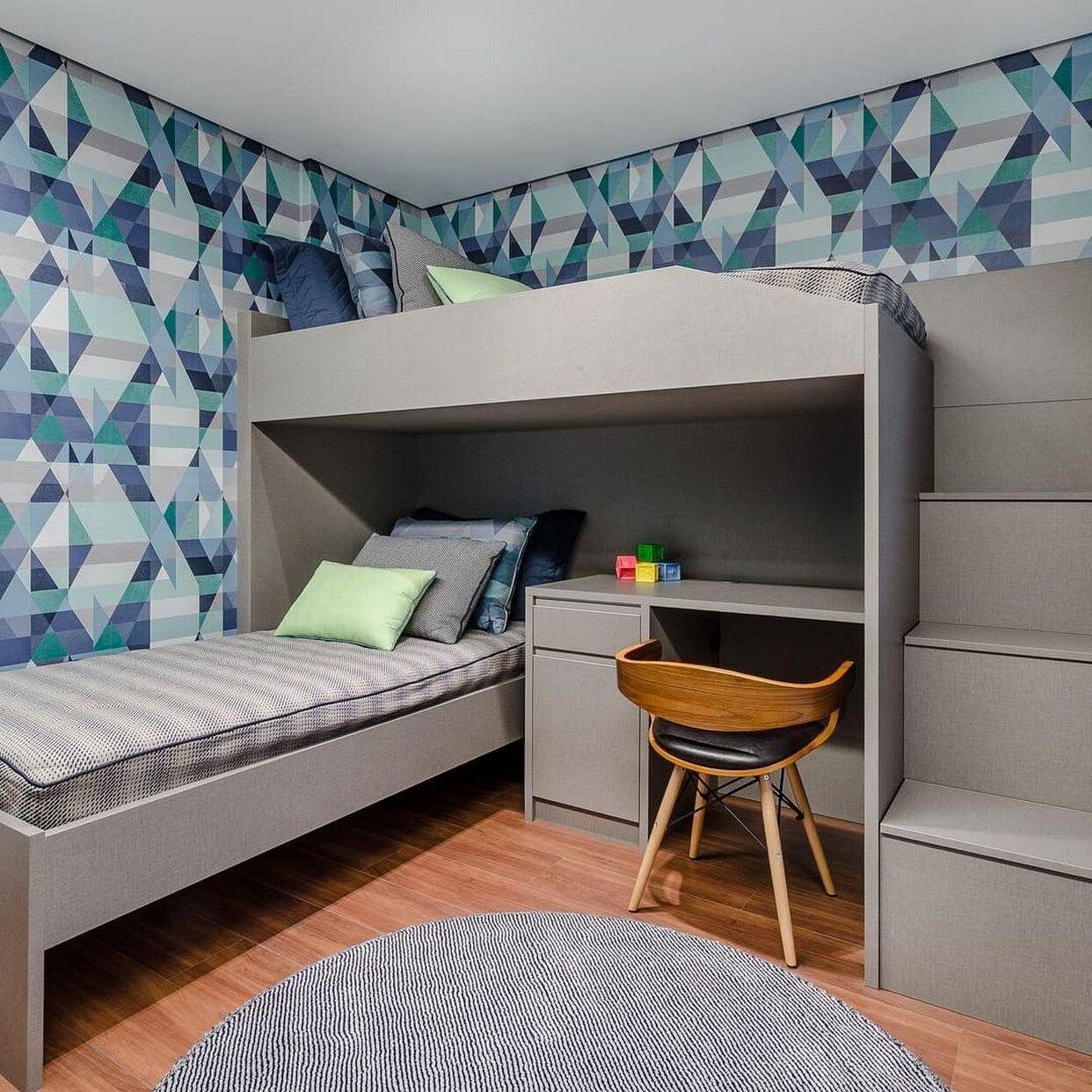 дизайн детской комнаты 12 кв.м для двоих