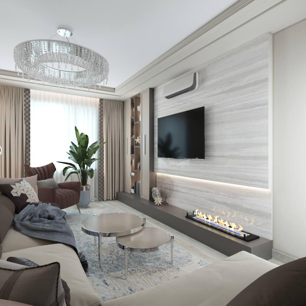 дизайн большой комнаты в двухкомнатной квартире