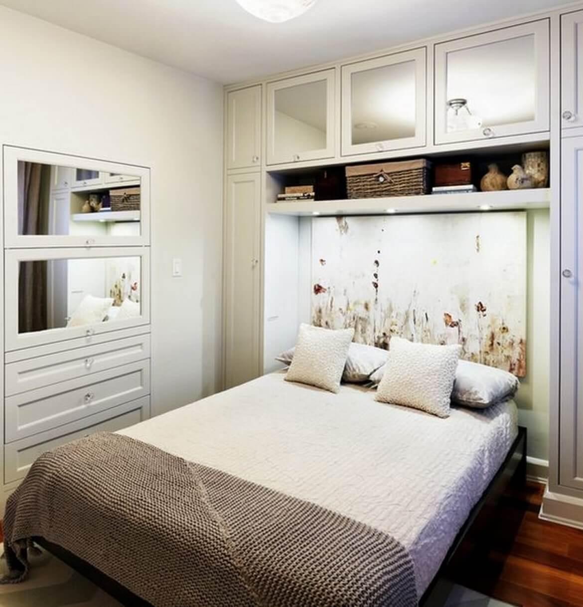 Узкая спальня 8 кв.м