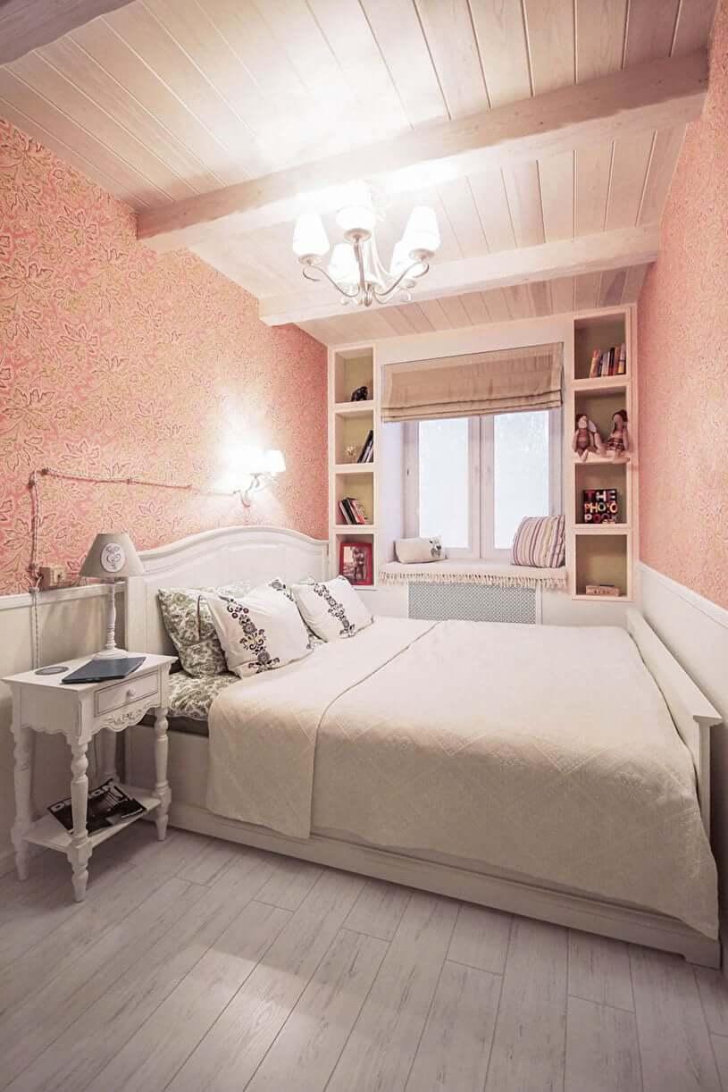 Узкая спальня шириной 2 метра