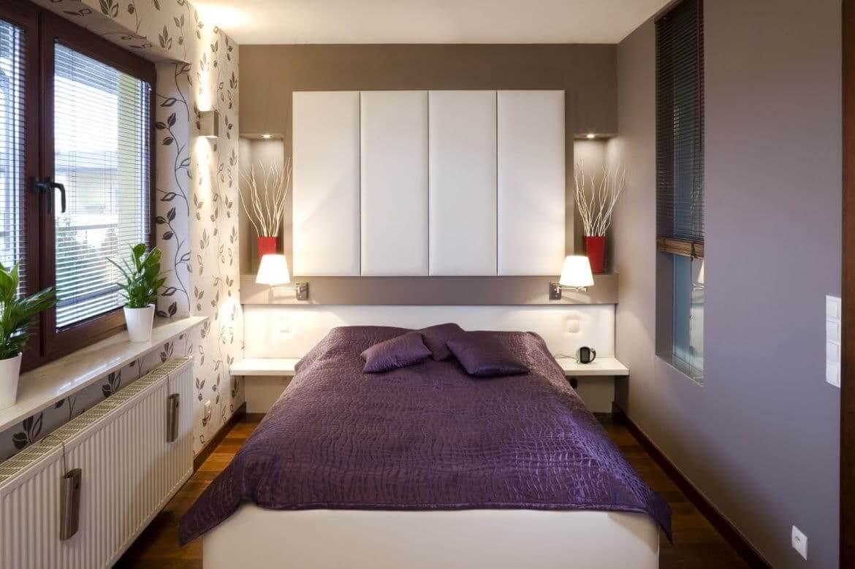 Ремонт в узкой спальни