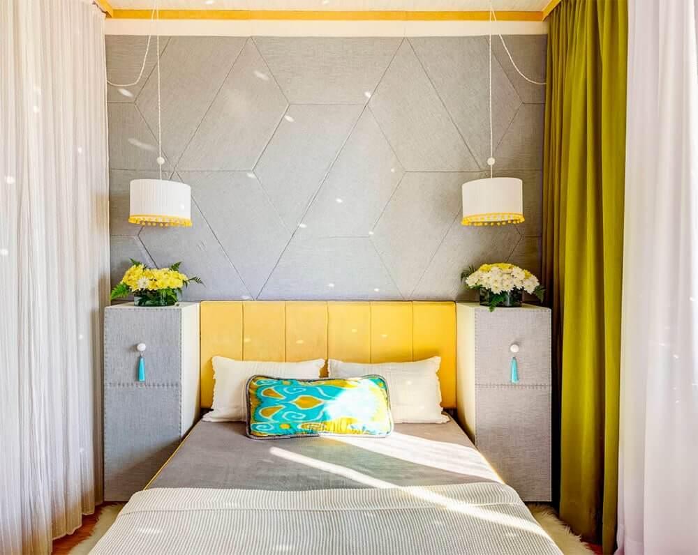 дизайн очень маленькой узкой спальни