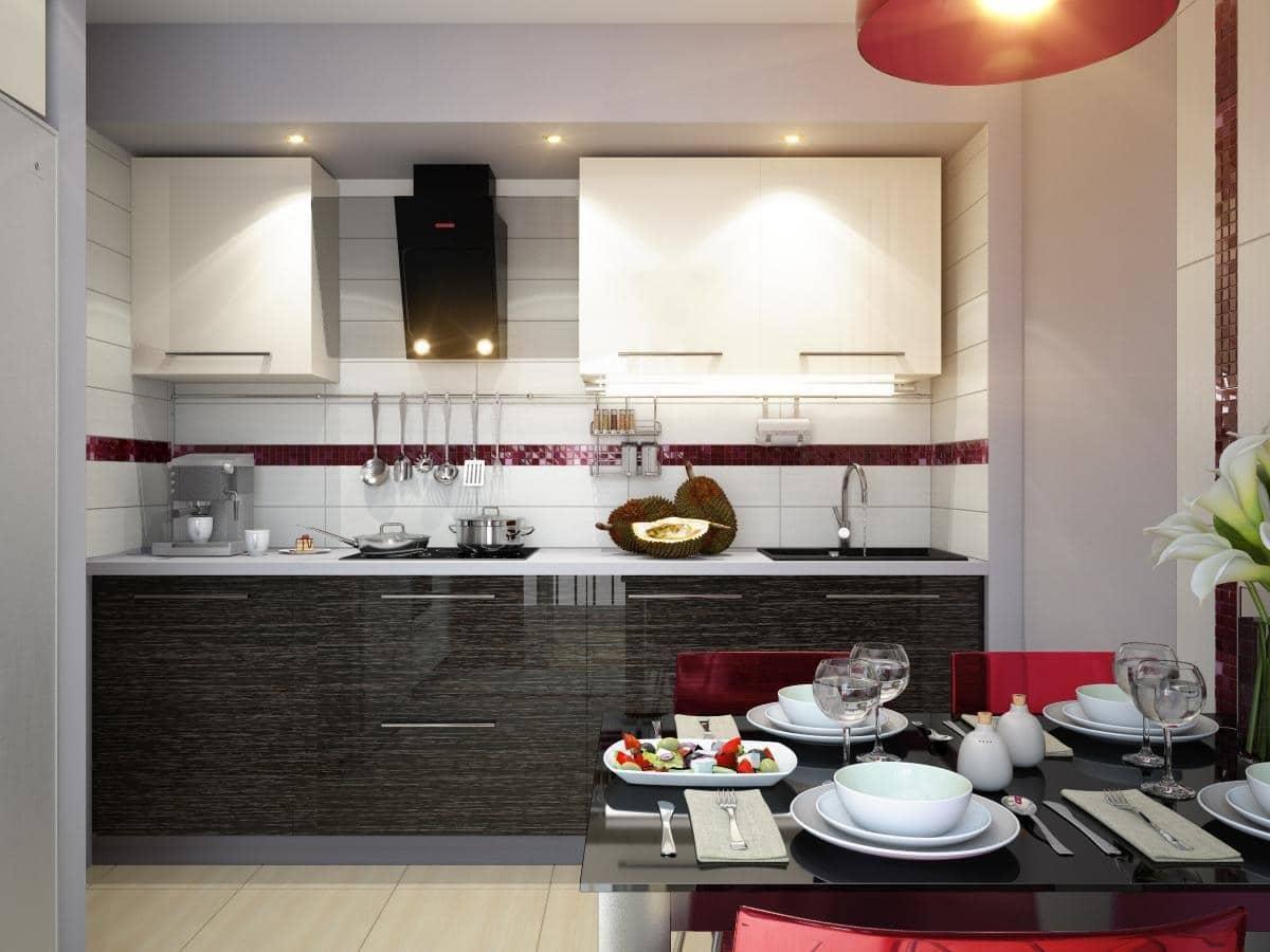 Интерьер кухни столовой в частном доме