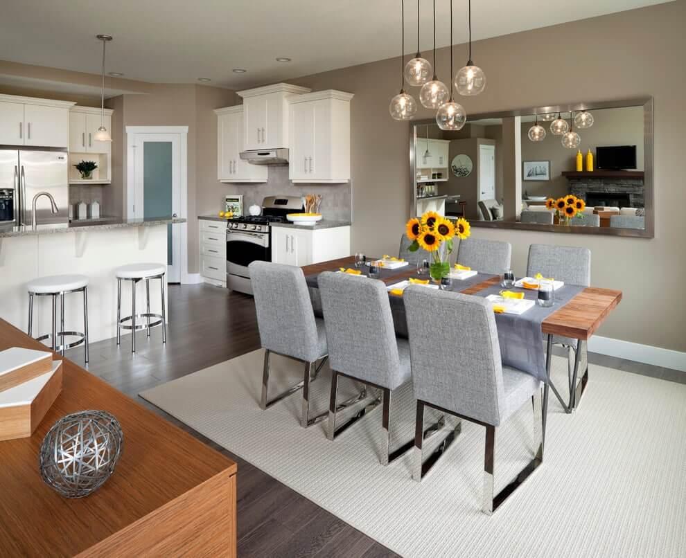 Интерьер кухни столовой в американском стиле