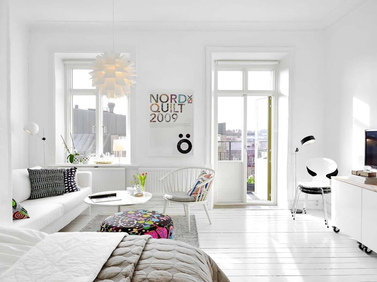 Белый интерьер в квартире