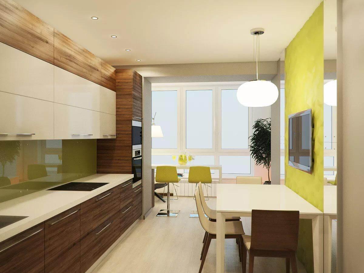 интерьер кухни 9 кв м