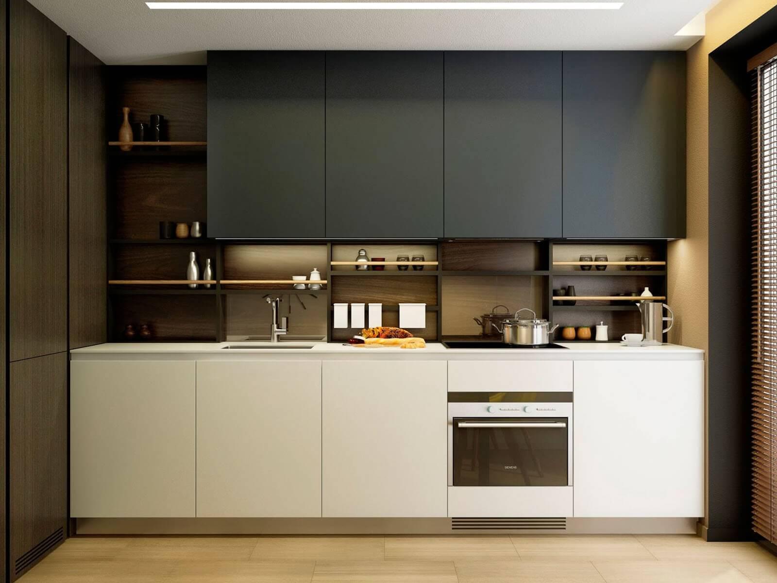 дизайн кухни 9 кв м минимализм