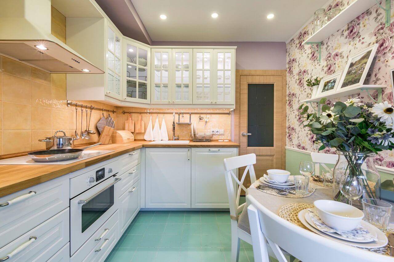 дизайн кухни размером 9 кв м