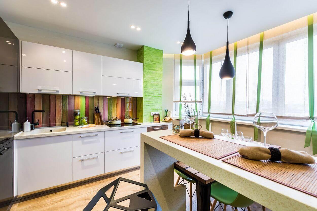 интерьер кухни 9 кв м с балконом
