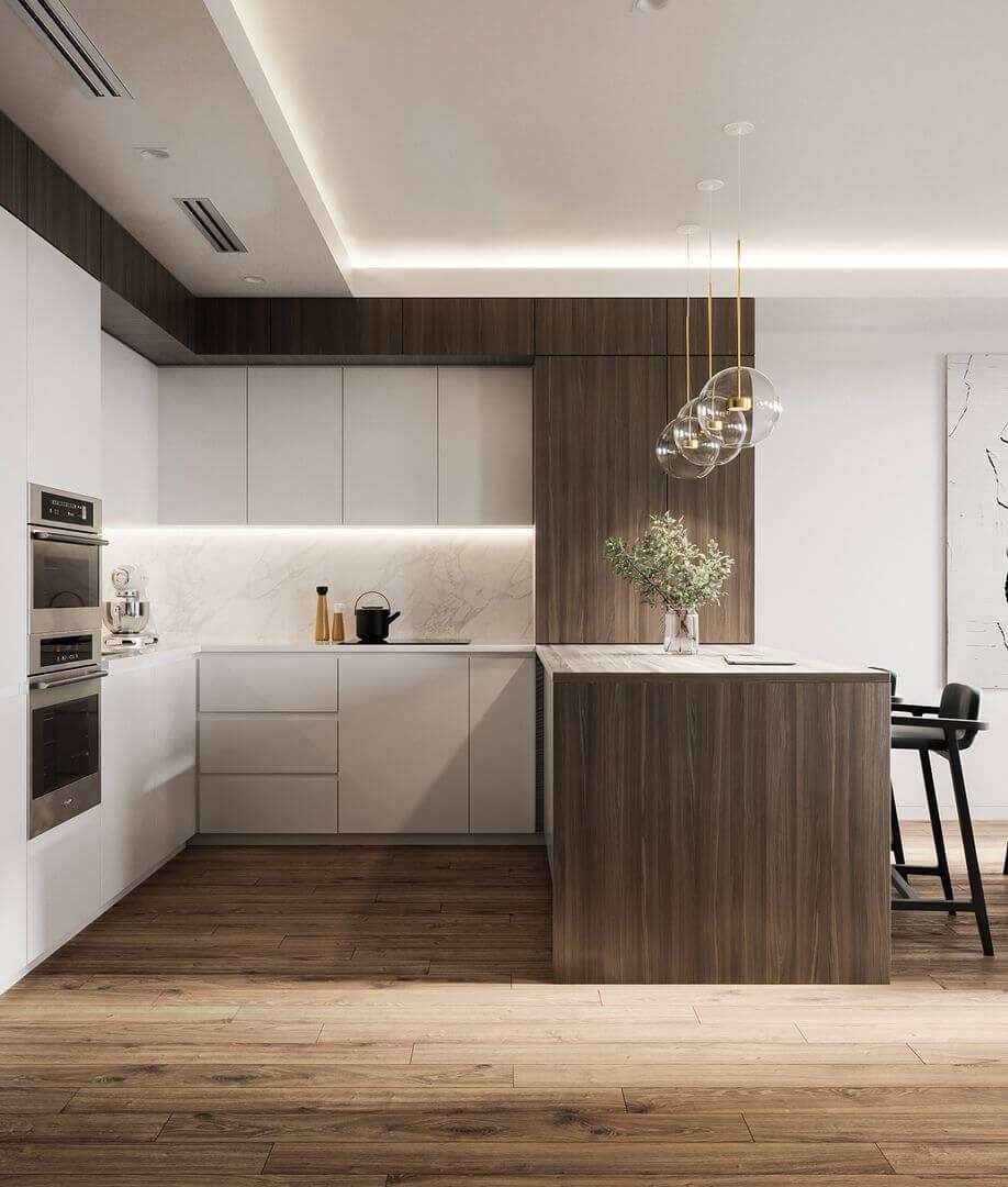 дизайн кухни-гостиная 9 кв м