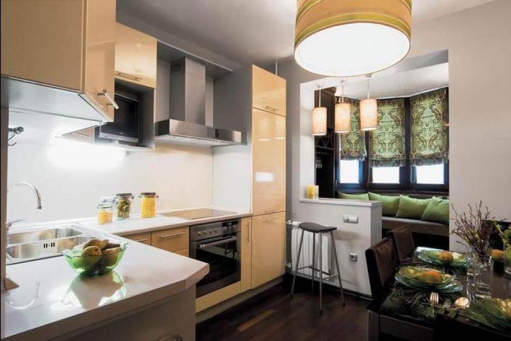 ремонт и дизайн кухни 9 кв м