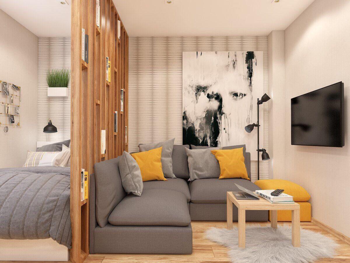Дизайн квартиры студии 24 кв м