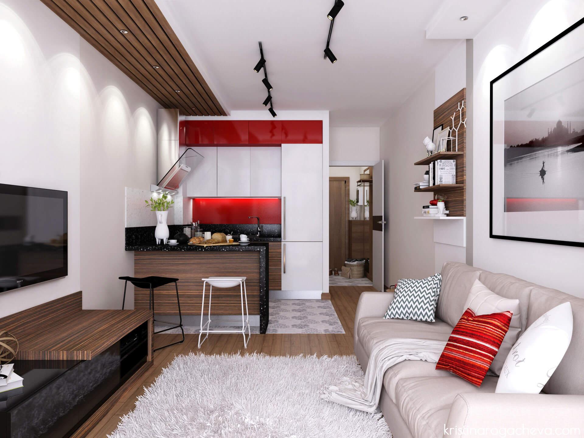 Дизайн квартиры 24 кв м