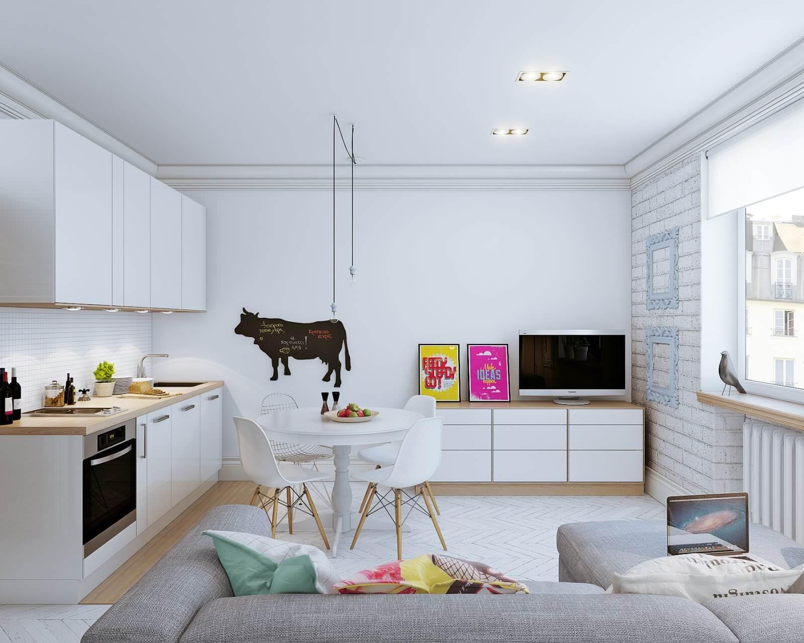 Ремонт в квартире студии 24 кв м