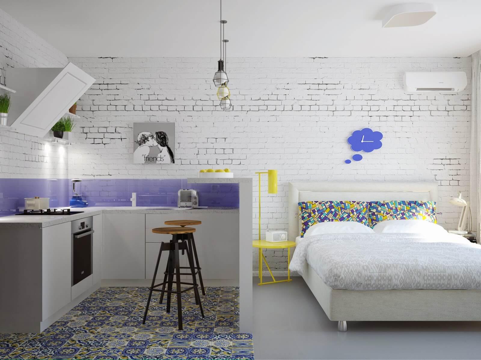 дизайн 1 комнатной квартиры 24 кв м