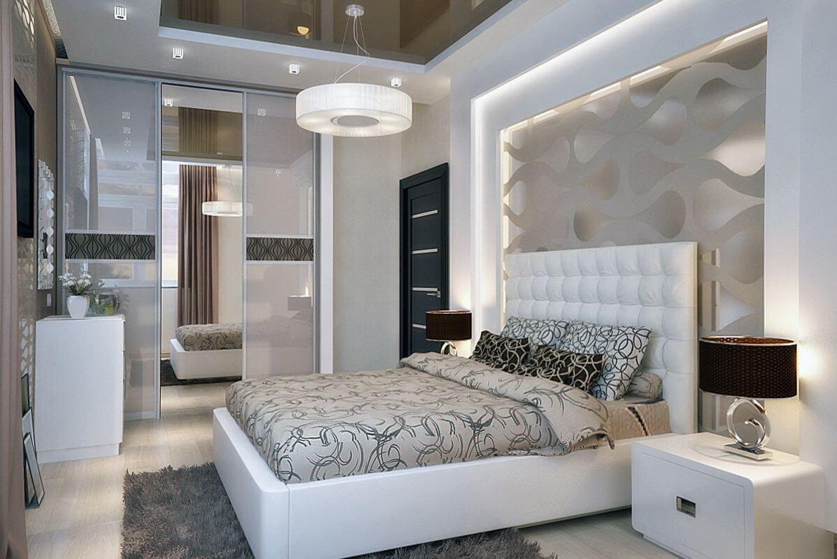Ремонт в белой спальне