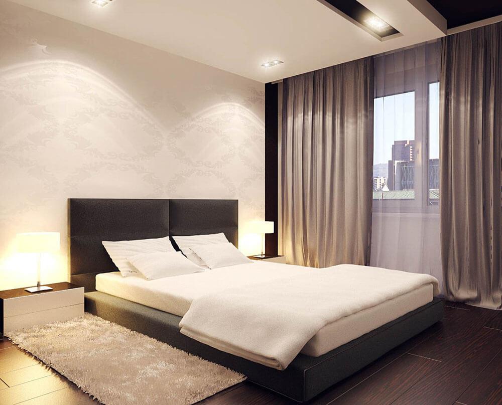 Красивый ремонт в маленькой спальне