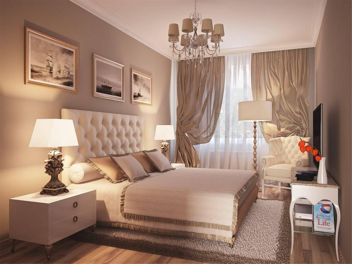 Классический ремонт в спальне