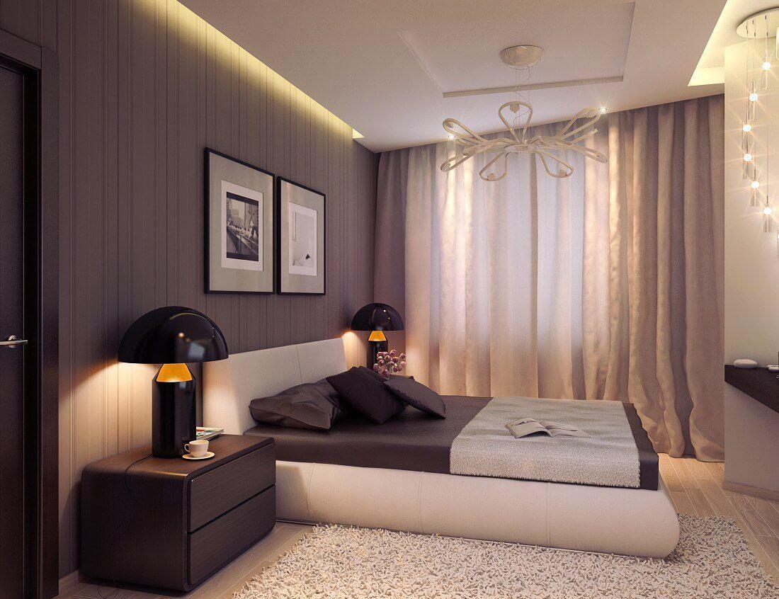 Ремонт в длинной спальне