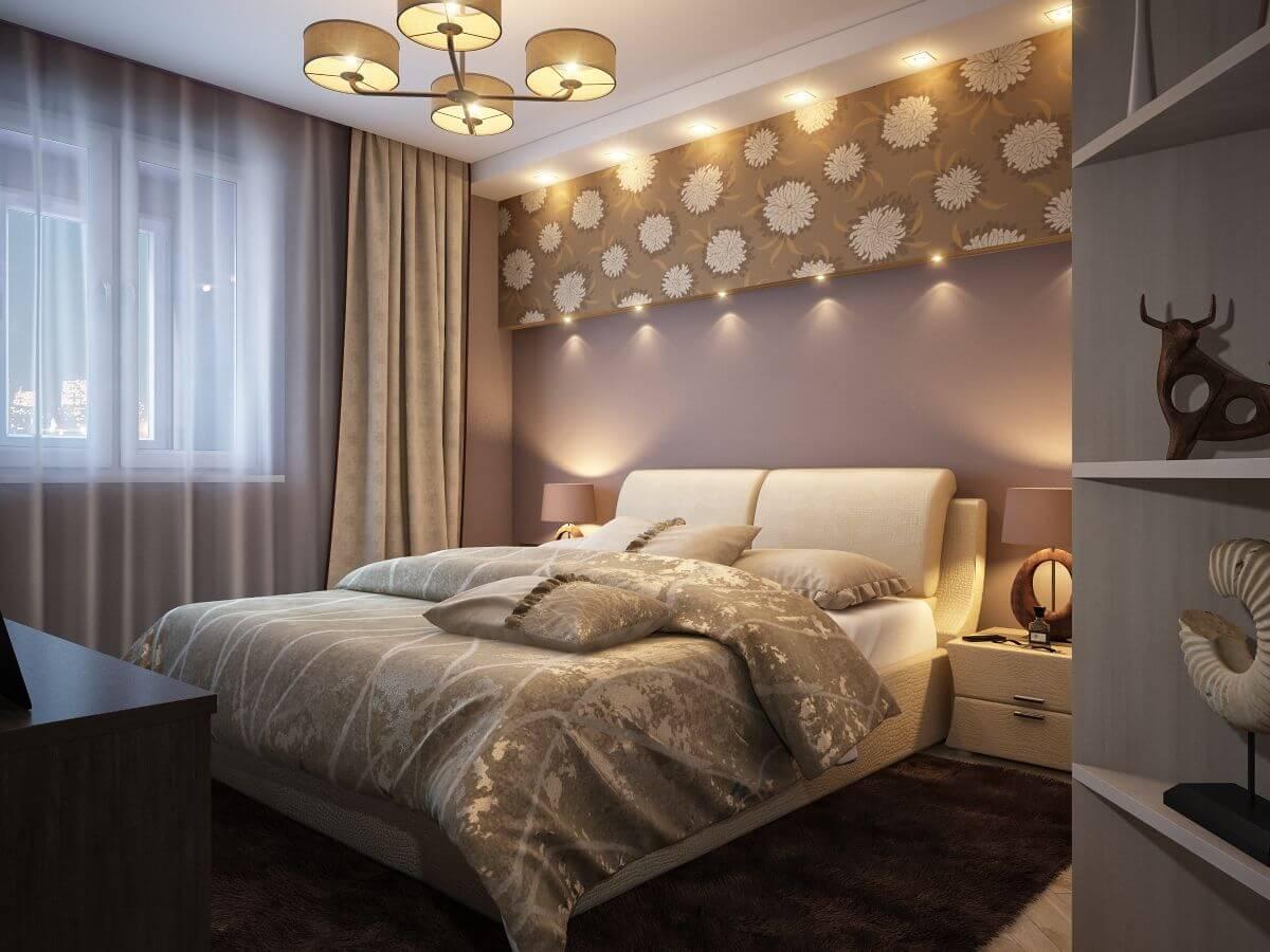 Ремонт в квадратной спальне