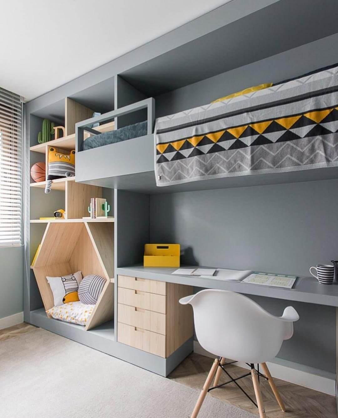 детская комната для мальчика школьника фото
