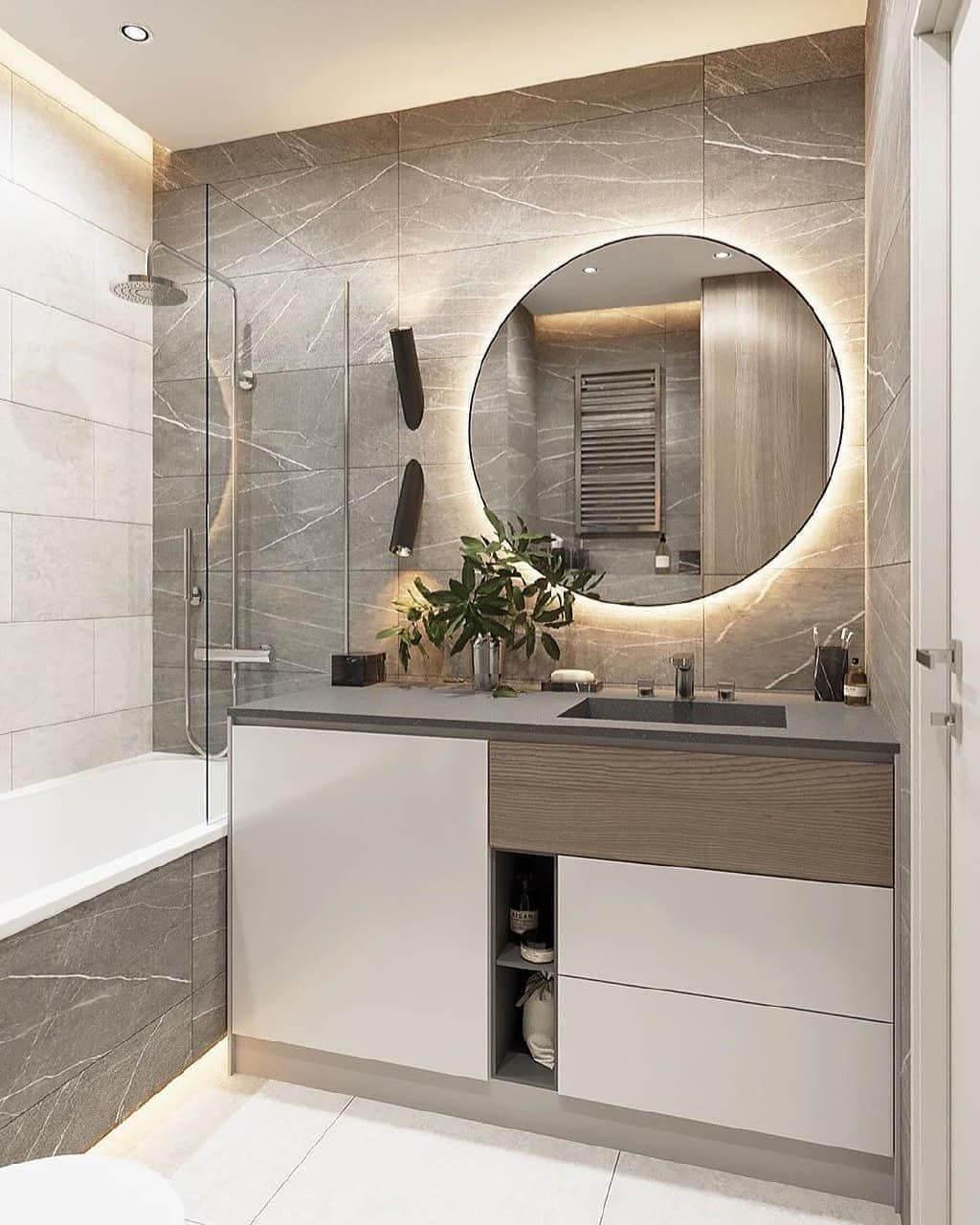 дизайн ванной со встроенной стиральной машиной