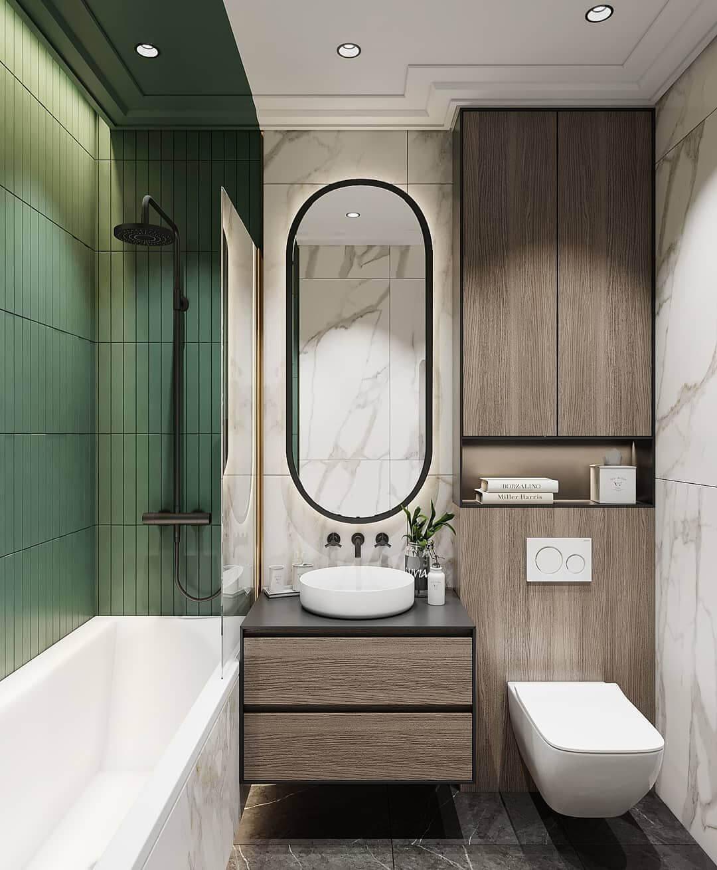 дизайн маленькой ванной со стиральной машиной