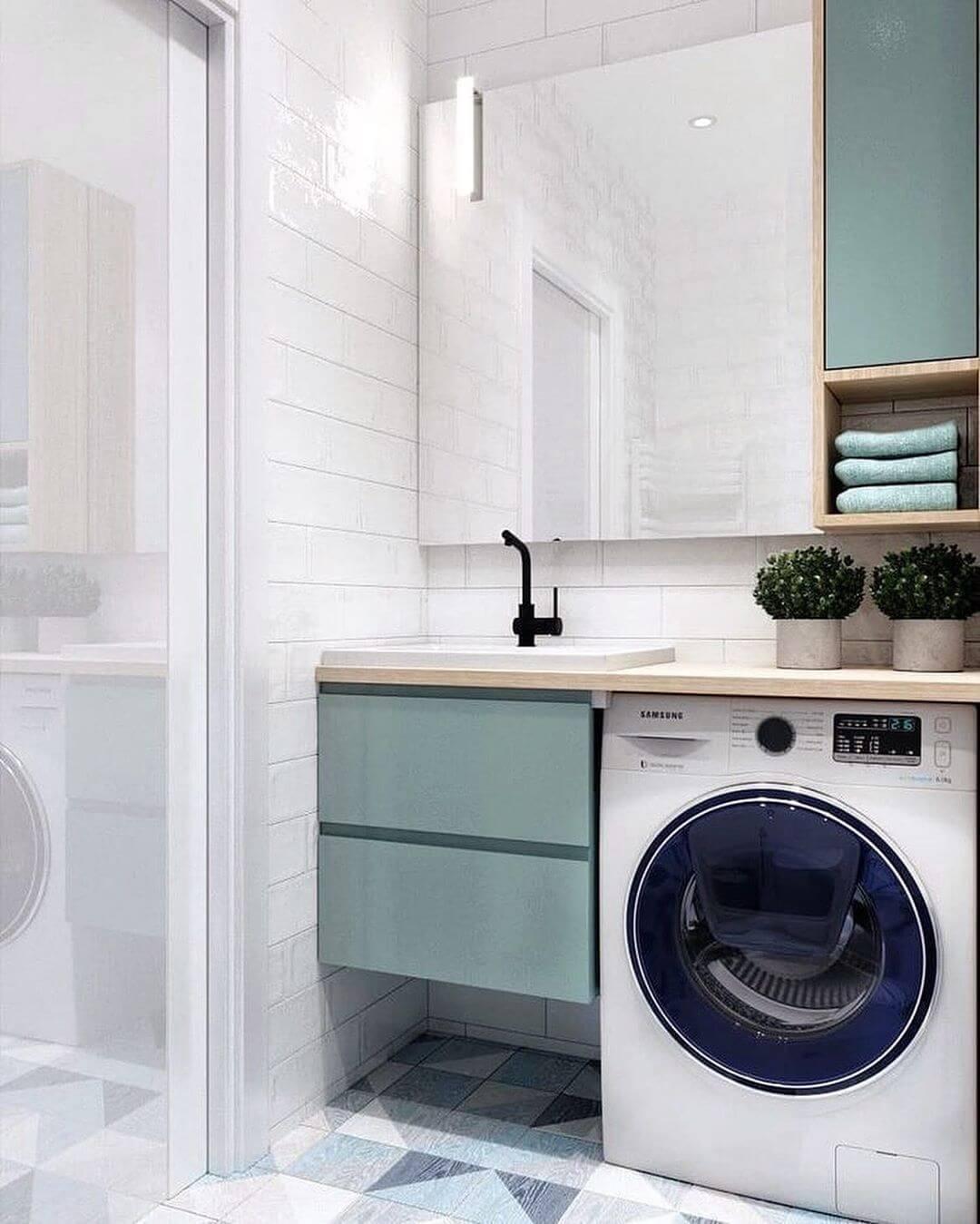 дизайн ванной комнаты 5 кв.м со стиральной машиной