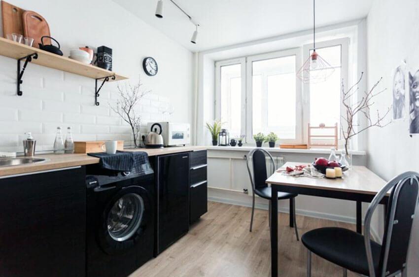 стиральная машинка в кухне