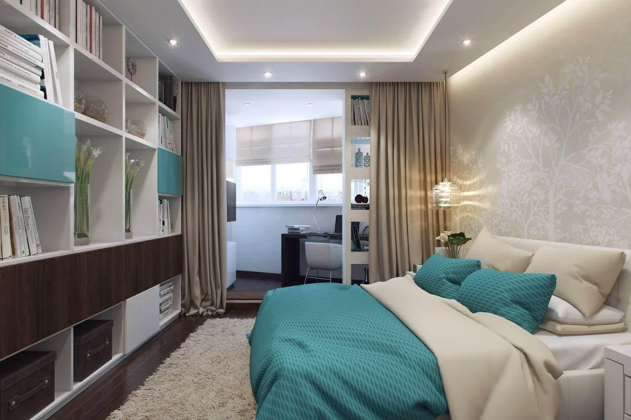 спальня совмещенная с балконом дизайн
