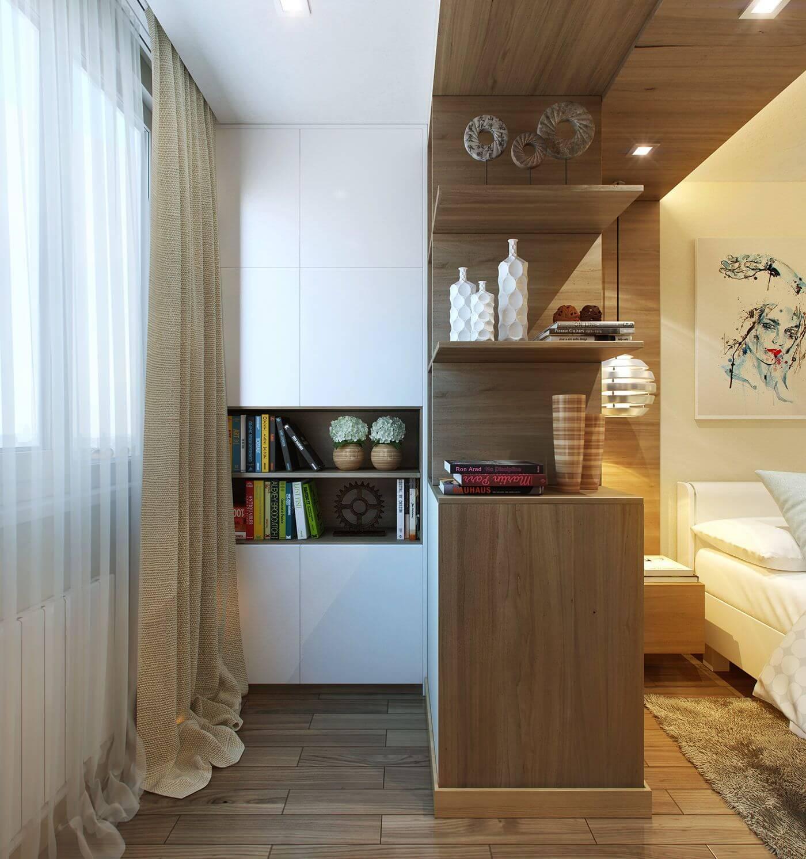 как расставить мебель в маленькой спальне с балконом