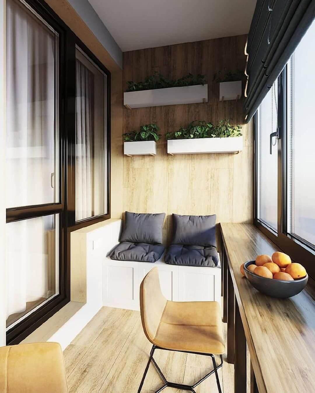 балкон в квартире студии