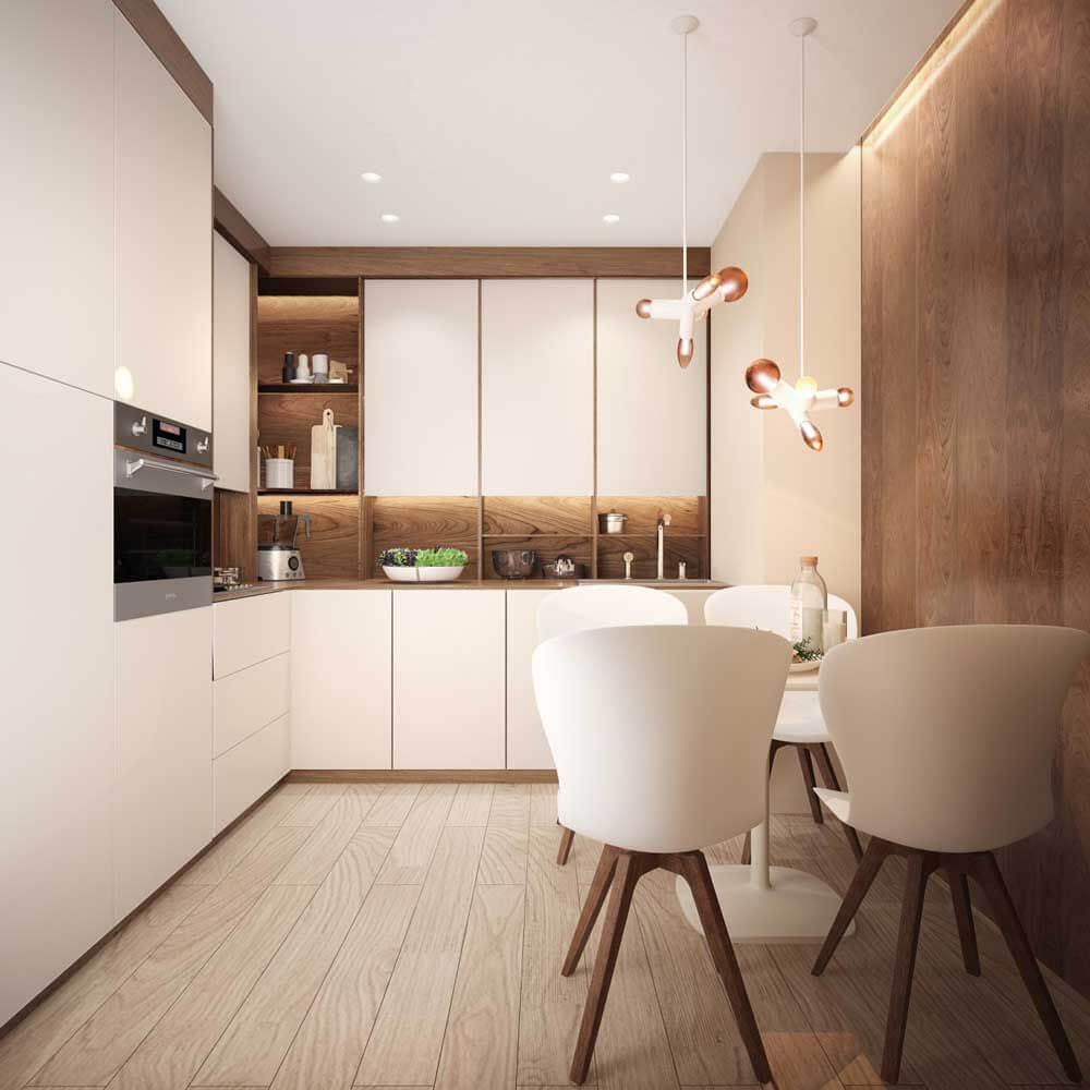 кухня в квартире 50 кв м