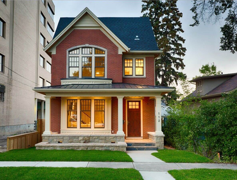дизайн двухэтажного дома снаружи