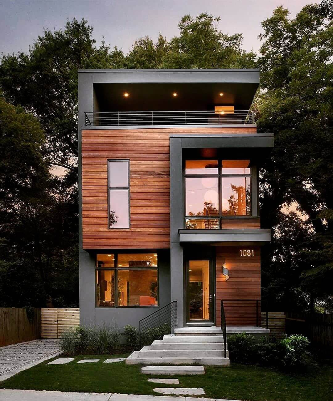 фасад дома из дерева