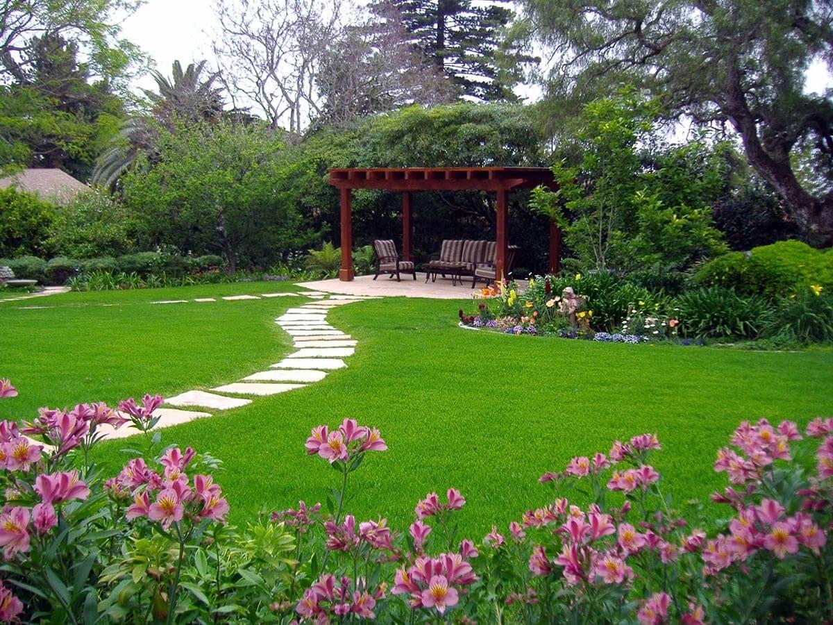 дизайн большого двора частного дома